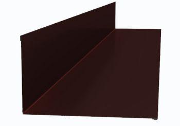 Планка примыкания верхняя  250*147*2000 (ПЭ-01-3005-ОН) Красное вино