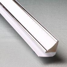 Плинтус потолочный люкс серебро
