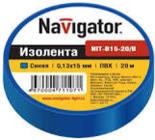 71233 Изолента Navigator NIT-B15-10/B синяя/КНР