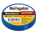 71107 Изолента Navigator NIT-B15-20/B синяя/КНР