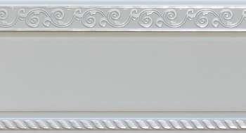 200 карниз УЛЬТРАКОМПАКТ Есенин серебро 3х рядный с декор. планкой 70мм белый гл. в инд. уп.