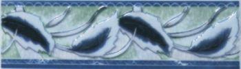 Бордюр В1 синий с платиной
