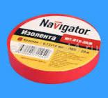 71230 Изолента Navigator NIT-B15-10/B красная/КНР