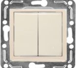 24862 Volsten V01-18-V22-M Выключатель 2-кл. с инд. Perl (перламутр) м-зм Magenta