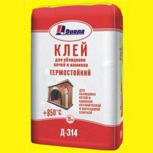 Клей  для облицовки печей и каминов Д-314 25кг +850С