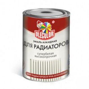 Эмаль Алкидная ПФ 115 Ole Color белая для радиаторов 0,9кг