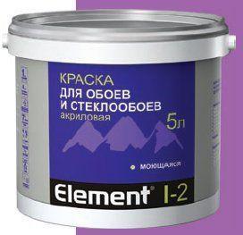 Элемент I-2 Краска акриловая для обоев 10,0л.