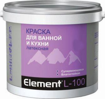 Элемент L-100 Краска латексная для ванной и кухни 2,0л.