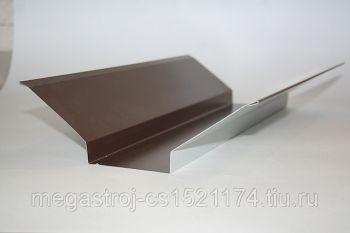Планка ендовы верхняя  76*76*2000 (ПЭ-01-8017-ОН) Шоколад