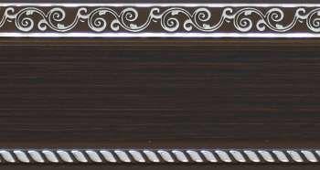 240 карниз УЛЬТРАКОМПАКТ Есенин серебро 3х рядный с декор. планкой 70мм венге гл. в инд. уп.