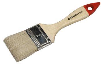 """0101-038 Кисть плоская STAYER """"UNIVERSAL-STANDART"""", светлая натуральная щетина, деревянная ручка, 38мм."""