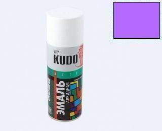 КУДО KU-1021 Эмаль аэрозолевая сиреневая 0,52л универсальная