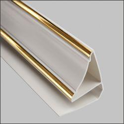 Плинтус потолочный люкс золото