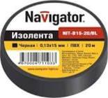71110 Изолента Navigator NIT-B19-20/BL черная/КНР