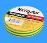 71108 Изолента Navigator NIT-B15-20/YG желто-зеленая/КНР