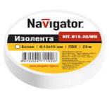71228 Изолента Navigator NIT-B15-10/WH белая/КНР