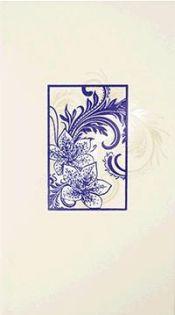 1645-0058 Азур декор синий СОЛО (ЛБ-Керамикс)