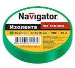 71113 Изолента Navigator NIT-B19-20/G зеленая/КНР
