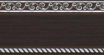 200 карниз УЛЬТРАКОМПАКТ Есенин серебро 3х рядный с декор. планкой 70мм венге гл. в инд. уп.