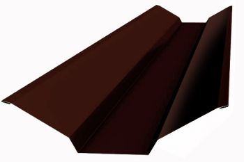 Планка ендовы верхняя  76*76*2000 (ПЭ-01-3005-ОН) Красное вино