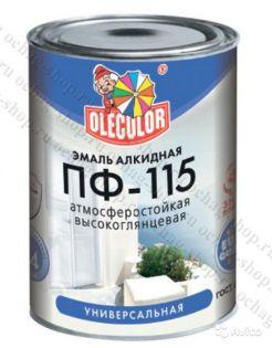 Эмаль Алкидная ПФ115 Ole Color белая 0,9кг