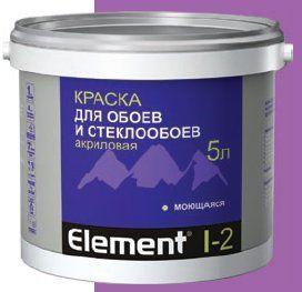Элемент I-2 Краска акриловая для обоев 5,0л.