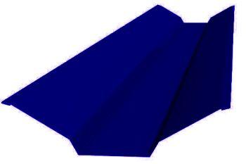 Планка ендовы верхняя  76*76*2000 (ПЭ-01-5002-ОН) Ультрамарин
