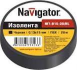 71229 Изолента Navigator NIT-B15-10/BL черная/КНР