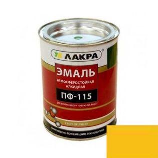 Эмаль ПФ-115 Лакра Желтая 1кг