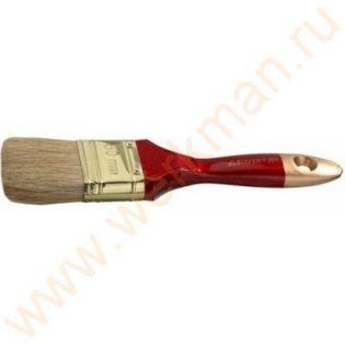 """0104-020 Кисть плоская STAYER """"UNIVERSAL-PROFI"""", светлая натуральная щетина, деревянная ручка, 20мм."""